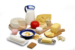Milk products stock image