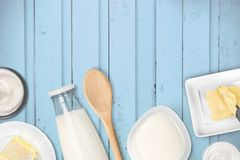 Milk products Stock Images