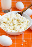 Milk products and eggs. Fresh milk products and eggs Royalty Free Stock Images