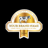 Milk products vector label. Cow vector illustration Stock Photography