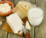 Milk  products Royalty Free Stock Images