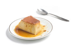 Milk Pudding. Brazilian Flan Royalty Free Stock Photo