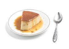 Milk Pudding. Brazilian Flan Stock Photography