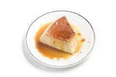 Milk Pudding. Brazilian Flan Royalty Free Stock Photography