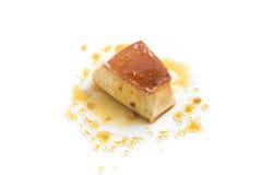 Milk Pudding. Brazilian Flan Stock Photos