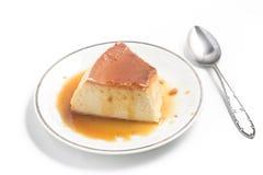 Milk Pudding. Brazilian Flan Stock Image