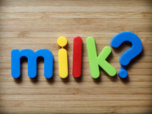Milk question concept Stock Photo