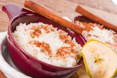 Milk rice with cinnamon Royalty Free Stock Photo