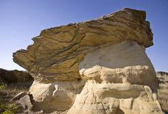 Milk River Alberta Badlands Royaltyfria Bilder