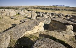 Milk River Alberta Badlands Stock Photo