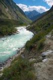 Milk river in the mountains Stock Photos