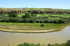 Milk river valley Stock Photography