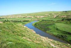 Milk river valley Royalty Free Stock Images