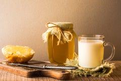 Milk roll honey bread food vintage Stock Images