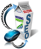 Milk SEO missing profit. SEO missing profit - Search engine optimization web Royalty Free Stock Photography