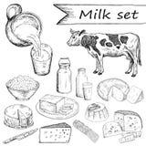 Milk set Stock Photography