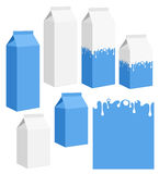 Milk. Set. Isolated objects on white background. Vector illustration (EPS 10 Stock Images