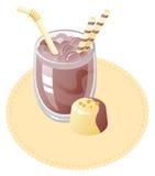 Milk shake. Chocolate milk shake and truffle Stock Photography