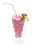 Milk shake. Smoothie shake studio isolated on a white background Stock Image