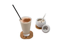 Milk shake. Cup of milk shake with  sugar Royalty Free Stock Photo