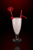 Milk shake with decoration royalty free stock photography