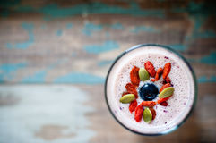 Milk shake do batido de fruta Fotos de Stock Royalty Free