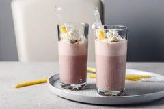Milk shake do chocolate foto de stock royalty free