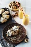 Milk shake do tarte de abóbora e da abóbora Fotos de Stock Royalty Free
