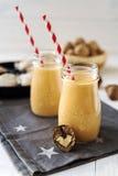Milk shake do tarte de abóbora e da abóbora fotografia de stock royalty free