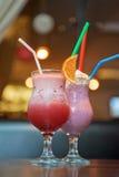 Milk shake dos cocktail Imagens de Stock