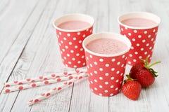 Milk shake with fresh berries Royalty Free Stock Image