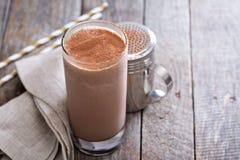 Milk shake frio do chocolate Imagens de Stock
