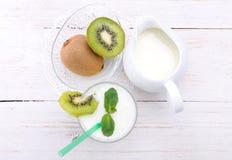 Milk shake with kiwi. Royalty Free Stock Image