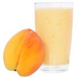Milk shake from peach yogurt Stock Photography