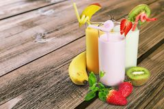 Free Milk Shakes Royalty Free Stock Image - 59994716