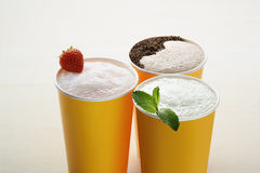 milk-shakes Images libres de droits