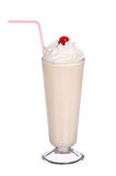 Milk shakes vanilla flavor with cherry and whipped cream Stock Images