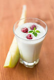 Milk smoothie with fruit Royalty Free Stock Photos