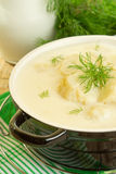 Milk soup with cauliflower Royalty Free Stock Images