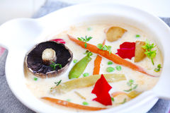 Milk soup with root vegetables, nordic cuisine Stock Images