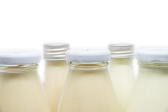 Milk and Soymilk Bottles Isolated Stock Photos