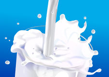 Milk splash Royalty Free Stock Images