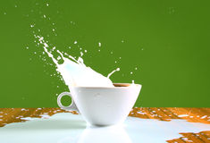 Milk splash Royalty Free Stock Photography