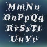 Milk Splash Font. Set Vol.2 M-u Royalty Free Stock Photo