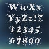 Milk Splash Font. Set Vol.3 W-0 Royalty Free Stock Photos
