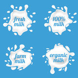 Milk splash labels vector design, shape creative illustration Stock Photo