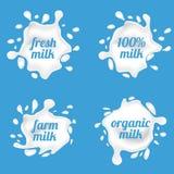 Milk splash labels vector design, shape creative illustration Stock Photo