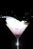 Milk Splash Martini Glass Stock Photography