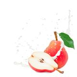 Milk splash pear Royalty Free Stock Images