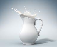 Milk splashing Stock Photos